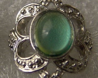Vintage 1960-70's Fancy Mood Ring QUEENS LOOP 203 adjustable