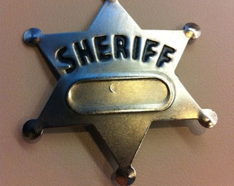 Geeky image for printable sheriff badge