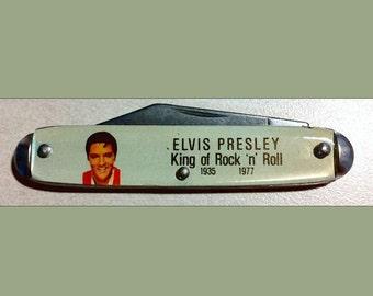 1977 Bayes Elvis Presley King of Rock n Roll 1935 1977 Pocket Knife Made in USA