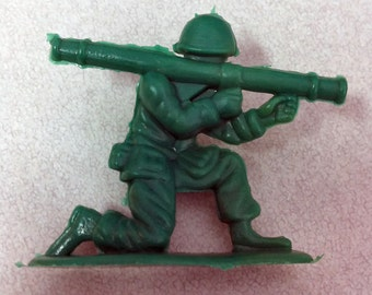 Vintage 1950s Army Man in Large Puffy Style BAZOOKA