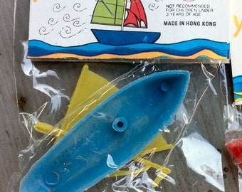 1960s Mint in Package Medium SAILBOAT Made in Hong Kong