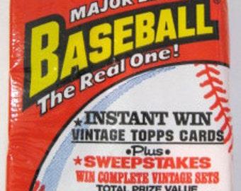 Three Packs of 1991 TOPPS Baseball Photo Cards
