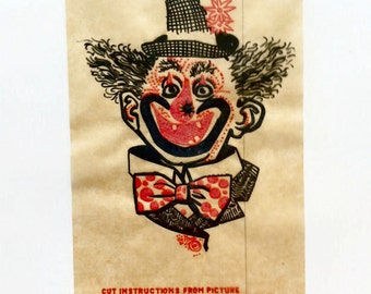 1940s Cole Brothers Circus CLOWN Iron-on Patch