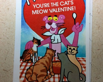 1982 Limited Edition Orange Crush CocaCola PINK PANTHER Valentine Postcard You're The Cats Meow