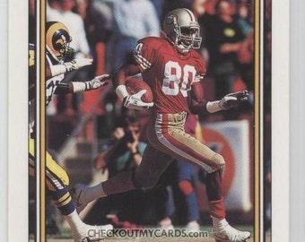 Rare 1992 Topps High Series JERRY RICE Football Card