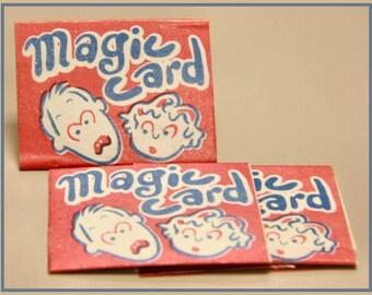 THREE 1950's Magic Card Baseball and Circus Viewer MIP