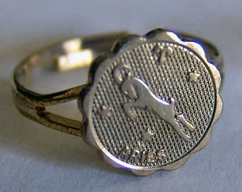 1960's Zodiac Gum Machine Ring ARIES