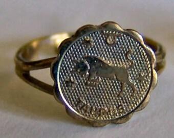 1960's Zodiac Gum Machine Ring TAURUS