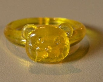 1960-70s Lucky Charm Ring BEAR