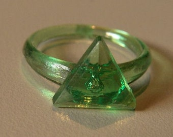 1960-70s Lucky Charm Ring PYRAMID
