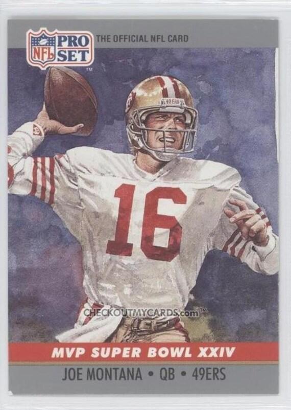 OFFICIAL NFL Football Card 1990 JOE MONTANA Super Bowl 24 MVP