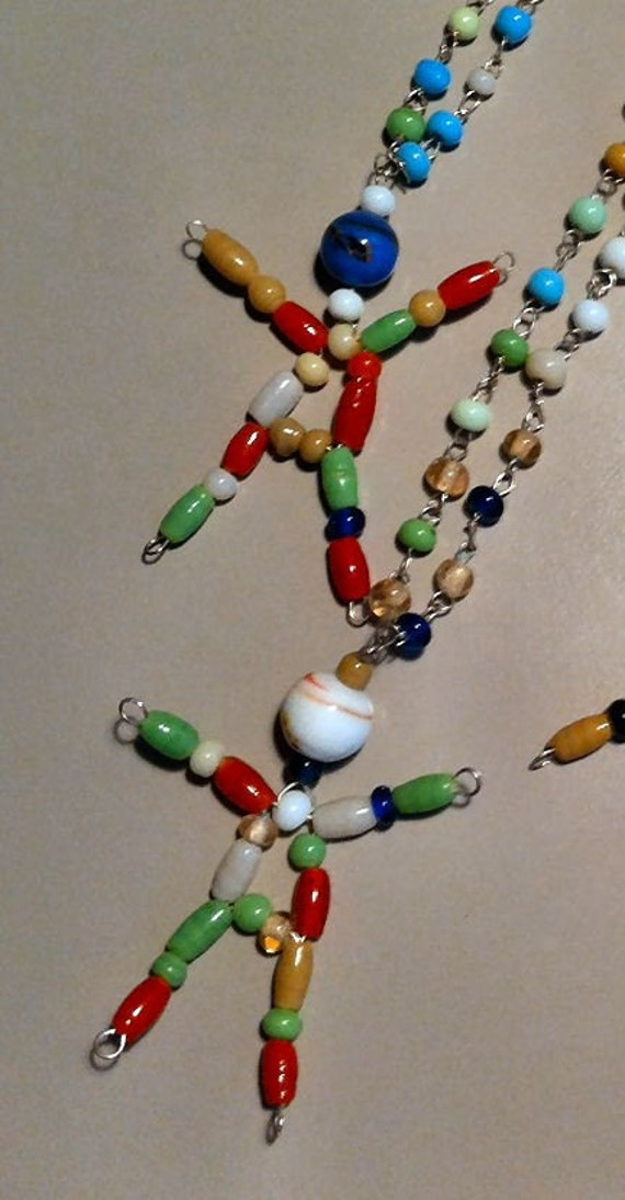 1960s Glass Bead CLOWN Necklace from Cole Brothers and Other Circus Companies