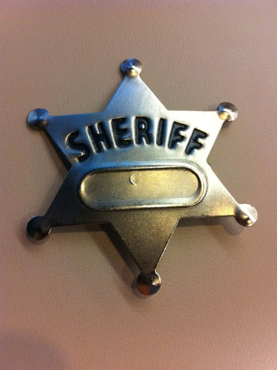 1960s-1970s Metal Sheriff Badge Unpressed Condition