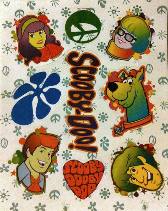 1980s Scooby-Doo FRONT Of Gum Machine Sticker Sheet UNUSED