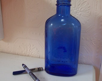 Cobalt Milk of Magnesia Bottle