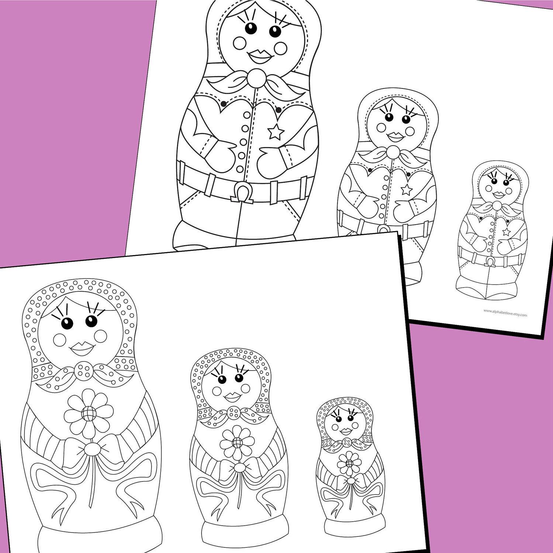 matroyshka dolls coloring pages - photo#35