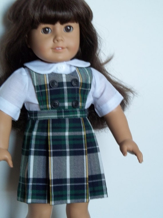 Parker school uniform with collared blouse fits American Girl