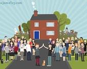 Be My Neighbour - 15x10 inch print