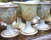 Stoneware Goblet Set 8 Glasses- sale