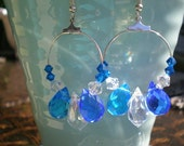 Hoop Earrings Blue Lagoon Cobalt Quartz