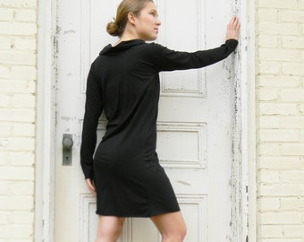 Cowl Neck Dress (Soy or Bamboo Organic Cotton)