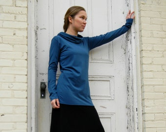 Cowl Neck Shirt (Soy or Bamboo Organic Cotton)