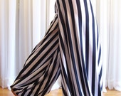 Pantaloons harem pants - striped - YOUR SIZE