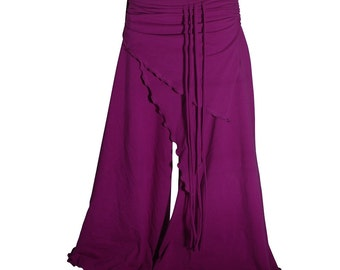 Yoga tribal bellydance VERY comfy pants burgundy - YOUR SIZE