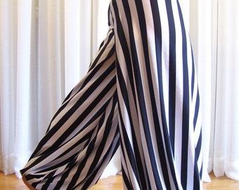 Pantaloons harem pants - striped - YOUR SIZE