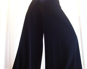 Pantaloons harem pants - Black velvet - YOUR SIZE