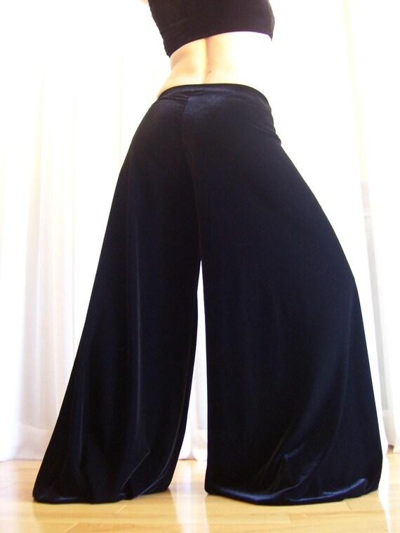 Pantaloons harem pants - Black velvet - YOUR SIZE