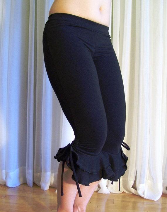 Capri bloomers ruffles pants - cotton - YOUR SIZE - color choice