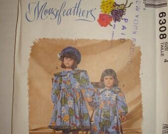 SALE***McCalls 6308 Childens Dress Jumpsuit Mousefeathers Size 4