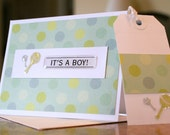 Baby Boy Greeting Card and Gift Tag