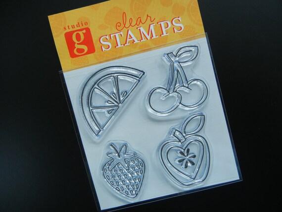SALE  Fruit Clear Stamp Set