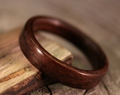 Wooden Ring - Louro Preto Bentwood Ring - Handcrafted Wood Wedding Band - Custom Made