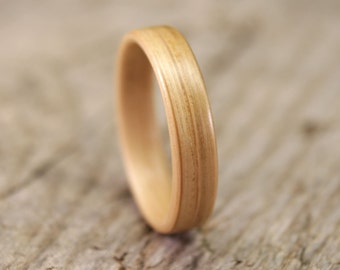 White Oak Bentwood Ring - Handcrafted Wooden Ring