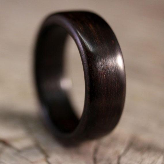 SIZE 8 - Ziricote Bentwood Ring - Handcrafted Wooden Ring