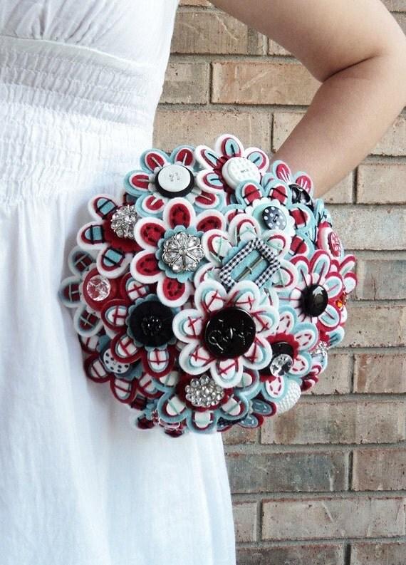 The MissJenniferRae Bridal Button Bouquet...Ready To Ship