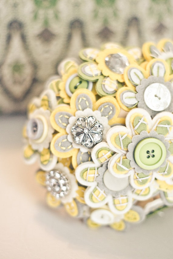 custom color button bridal bouquet by missjenniferrae on etsy