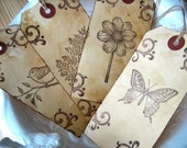 Rustic Woodland Wedding Gift Tags, Botanical Nature, Bird, Butterfly