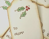 Holly Berry Christmas Gift Tags,