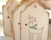 Christmas Gift Tags, Rudolph Reindeer Tags