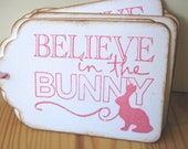 Pink Easter Bunny Gift Tags