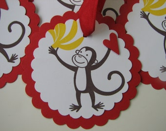 Love you bunches red monkey tags