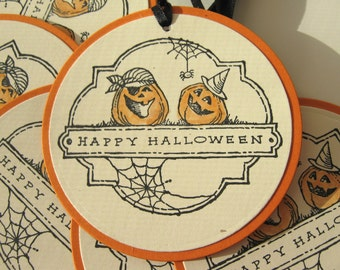 Halloween Pumpkin Pirate Tags