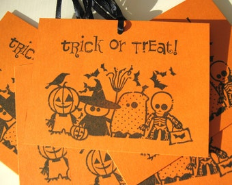 Halloween tags, Trick or Treat Little Goblins