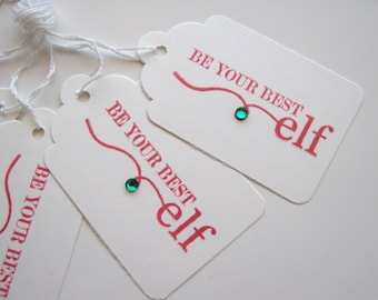 Elf Christmas Gift Tags