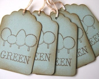Be Green tree tags