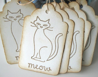 Meow Kitty Cat Gift Tags
